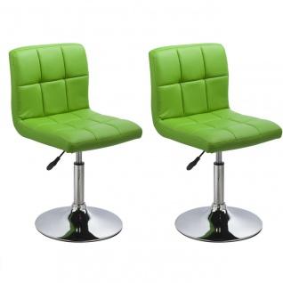 Esszimmerstühle Stuhle Küchenstuhl 2er Set - Bari - Grün