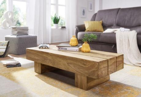 Couchtisch Massivholztisch ASMO 120x45x30 cm Holz Akazie