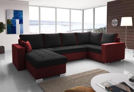 Couchgarnitur FANO mit Schlaffunktion Otto..Links Rot/ Schwarz
