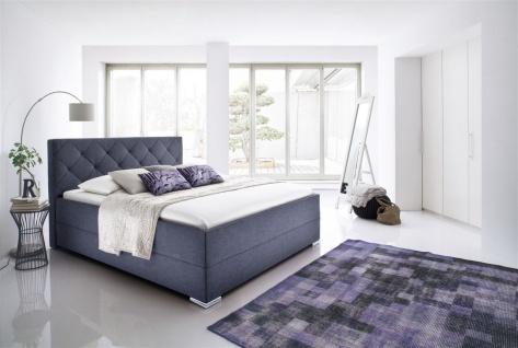 Polsterbett Bett Doppelbett - TULSA-180x200 cm im Stoffbezug Anthrazit - Vorschau 1