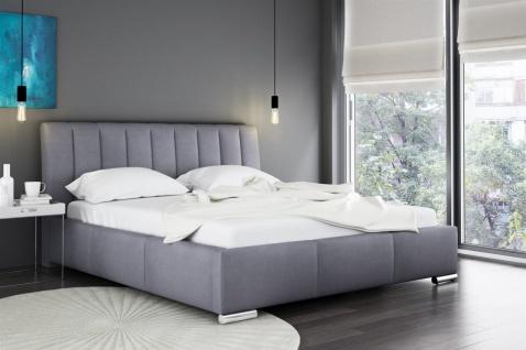 Polsterbett Doppelbett MARLON Komplettset Kunstleder Grau 180x200cm