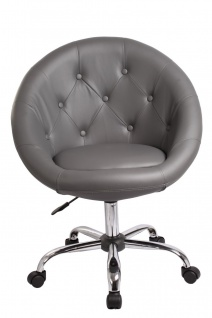 Drehstuhl Bürostuhl Drehhocker - Nr 30 - Kunstleder - Grau