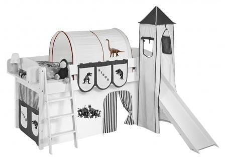 Tunnel Dinos Braun - für Hochbett. Spielbett und Etagenbett