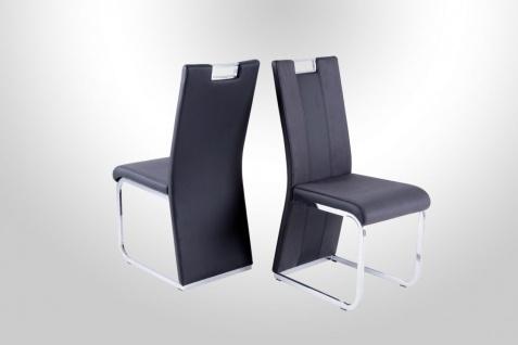 Stühle Hochlehnstuhl - RONY - 4er Set Softtex Dunkelbraun