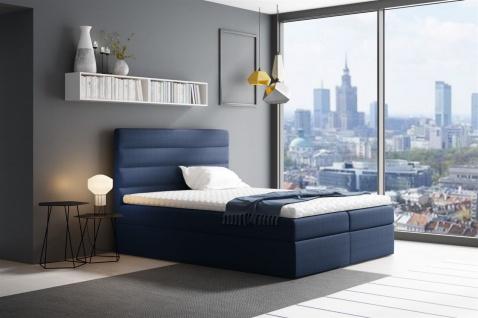 Boxspringbett Schlafzimmerbett LUCA 120x200cm Blau