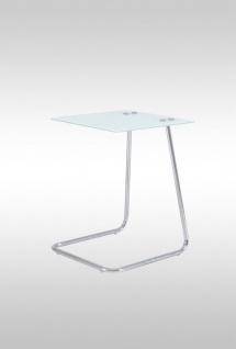 Beistelltisch Tisch POLO 40x45 cm ESG Glas weiss