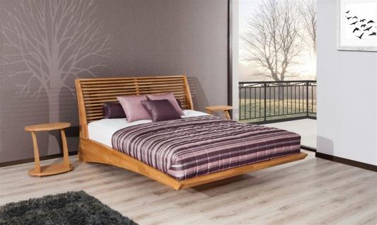 Massivholzbett Bett Schlafzimmerbett FRESNO Eiche massiv 140x200 cm