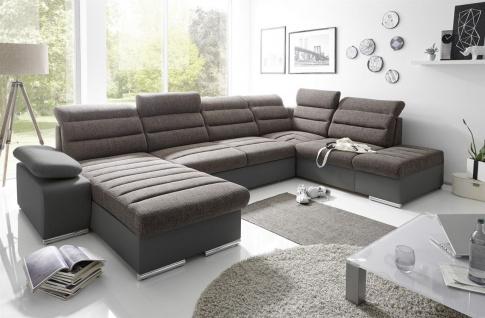 Couchgarnitur PASCARA U-Form mit Schlaffunktion-Schwarz /Otto.. Links
