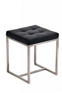 Sitzhocker - BRIT 2 - Hocker Sessel Kunstleder Schwarz 40x40cm