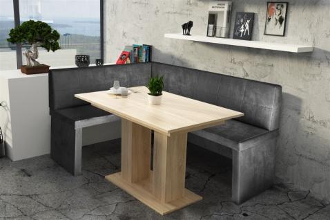Eckbankgruppe 196x142 cm ROBIN XL R Vin..Schwarz/ Tisch DANTE Sonoma