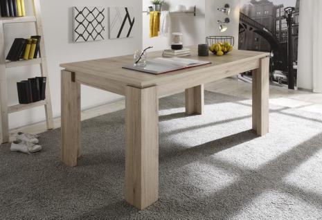 Esstisch Tisch Auszugstisch -DAV -160-200 x 90 cm Eiche San Remo Hell