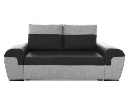 Sofa 2-Sitzer PAROS Hellgrau-Schwarz