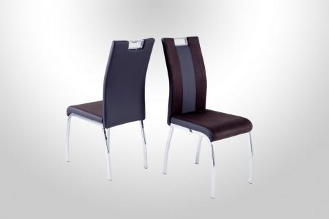 Esszimmerstühle Stuhle Vierfußstuhl 4er Set - RONY 2 - Braun
