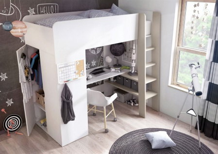 Etagenbett Schrank : Etagenbett erwin mit matratze und schrank kaufen bei sylwia