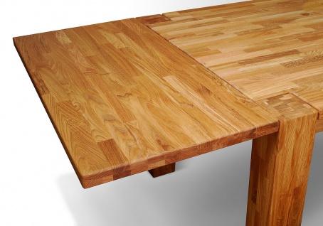 """Ansteckplatte 50cm für Tisch """" Hugo"""" 200x100 cm Eiche massiv geölt"""
