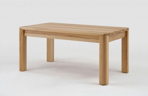 Esstisch Tisch mit Gestellauszug OLAND 140/ 220 x 80 cm Eiche massiv