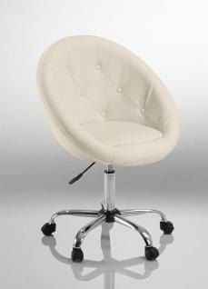Drehstuhl Bürostuhl Drehhocker - Nr 30 - Kunstleder - Weiß