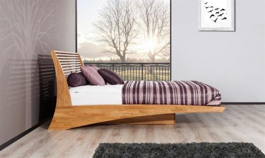 Massivholzbett Bett Schlafzimmerbett FRESNO Eiche massiv 180x200 cm - Vorschau 3