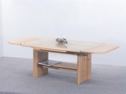 Couchtisch mit zwei Funktionen - Maxi - 115/157 x 74 cm Buche Nachbildung - Vorschau 2