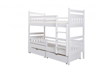 Etagenbett Bett MAGNE XL Kiefer Massiv inkl.Rollrost und Schubkasten