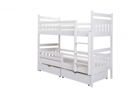 Etagenbett Bett MAGNE XS Kiefer Massiv inkl.Rollrost und Schubkasten