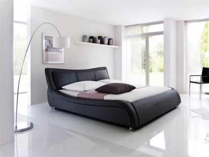 Polsterbett Bett Doppelbett Tagesbett - TOKIO - 160x200 cm Schwarz