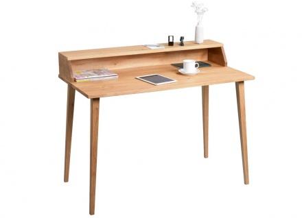 Schreibtisch Bürotisch KNUT 115x60 cm Wildeiche Massiv geölt