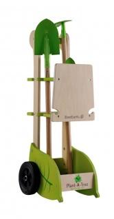 Holzspielzeug - Gartenkarre mit Geräten