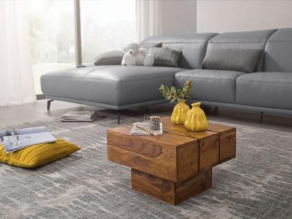 Couchtisch Massivholztisch Beistelltisch ASMO 44x44x30cm Holz Sheesham