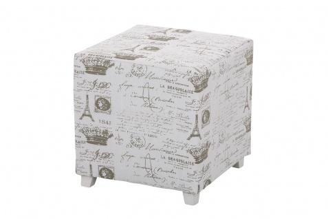 Sitzwürfel Sitzhocker - Paris - Hocker Sessel Bezug : Stoff 40x40 cm