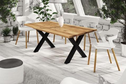 Esstisch Tisch RAIJA Wildeiche geölt 220x100 cm