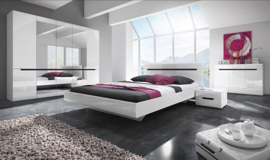 Schlafzimmer Set 5 tlg GALAXY inkl.Doppelbett 160cm und Schrank 225cm