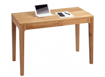 Schreibtisch Bürotisch Tisch - Kata - 110x55 mm - Wildeiche massiv