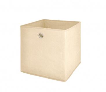 Faltbox Box Stoffbox- Delta - Größe: 32 x 32 cm / 3er Set - Beige