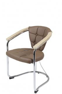 Sessel Stühle Wohnzimmersessel 4er Set CATANIA Latte / Sonoma Eiche