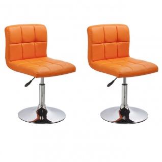 Esszimmerstühle Stuhle Küchenstuhl 2er Set - Bari - Orange