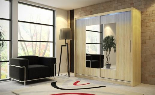 Schiebetürenschrank Schrank DOLM 06 Sonoma matt 180x215 cm inkl.LED