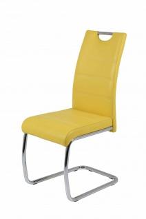 Esszimmerstühle Stuhl Freischwinger 4er Set ELENI Gelb