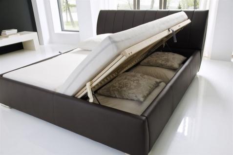 Polsterbett Bett -WIEN - 200x200cm inkl. Bettkasten+Lattenroste Braun - Vorschau 2