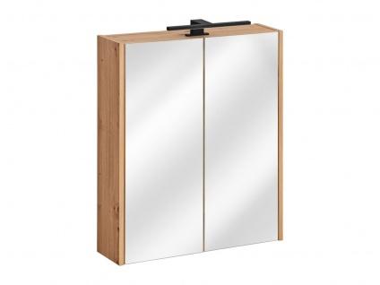 Badezimmer Spiegelschrank 60x72cm PANTIN Grau inkl.LED