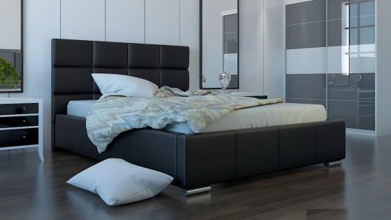 Polsterbett Bett Doppelbett SILVIO XL 160x200cm inkl.Bettkasten