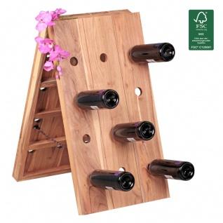 Weinregal Flaschenregal 72 cm für 24 Flaschen Massiv-Holz Akazie