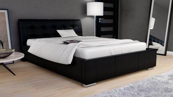 Polsterbett Bett Doppelbett MICA 200x200cm inkl.Bettkasten