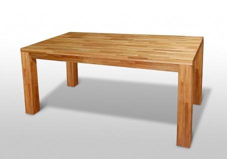 """Esstisch Tisch """" BEA"""" 180x90 cm Eiche massiv geölt / Fuß 115 x115 mm - Vorschau 2"""
