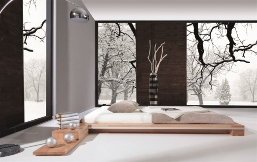 Massivholzbett Bett Schlafzimmerbett TOKYO Eiche massiv 180x200 cm - Vorschau 2