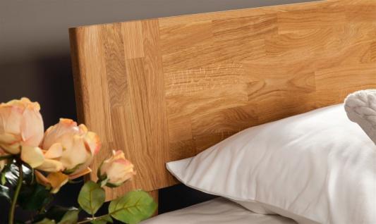 Massivholzbett Bett Schlafzimmerbet MAISON Eiche massiv 80x200 cm - Vorschau 2