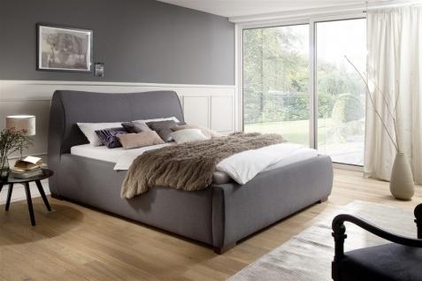 Polsterbett Bett Doppelbett - CARAS - 180x200 cm im Stoffbezug Grau