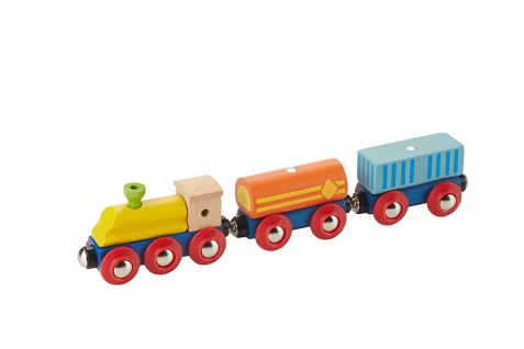 Holzspielzeug - Transposrteisenbahn