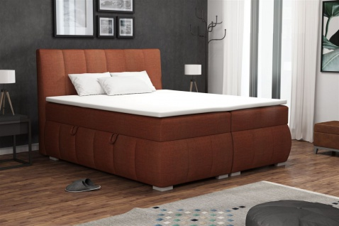 Boxspringbett Schlafzimmerbett VINCENZA 140x200cm inkl. Bettkasten