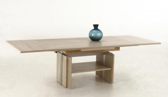 Couchtisch Tisch -Rom- 110- 177 x 68 cm Funktionscouchtisch -Sonoma Eiche - Vorschau 2